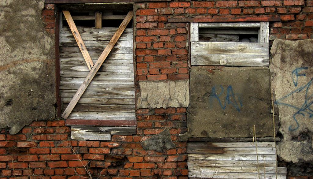 Rusty window and door